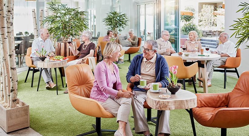 Seniorengerechte Wohnanlage mit Kommunikation