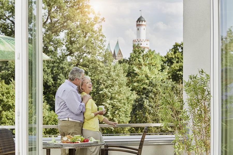 Bad Homburg am Schloss – Blick vom Balkon